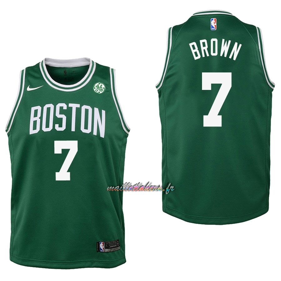 Maillot NBA Enfant Boston Celtics NO.7 Jaylen Brown Vert Pas Cher