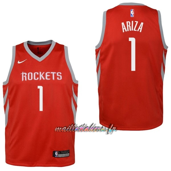 Maillot NBA Enfant Houston Rockets NO.1 Trevor Ariza Rouge Icon Pas Cher