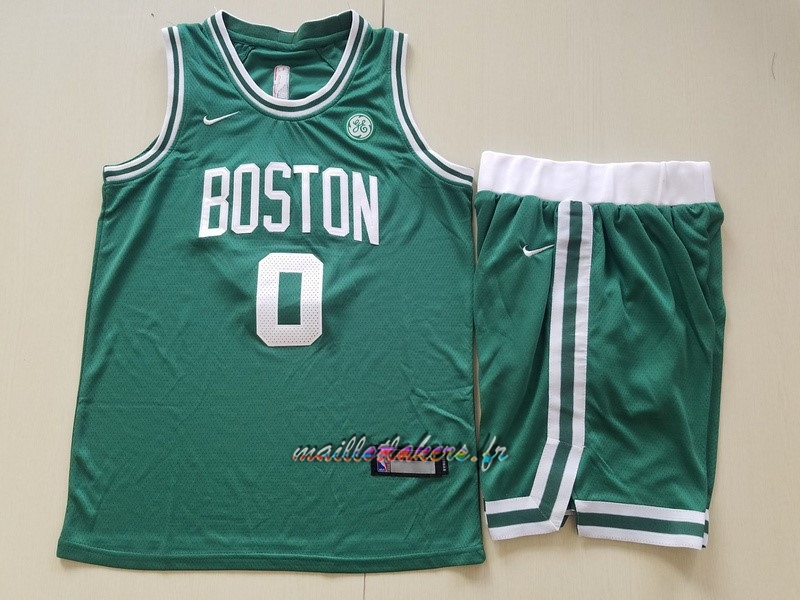 Maillot NBA Ensemble Complet Enfant Boston Celtics NO.0 Jayson Tatum Vert Pas Cher