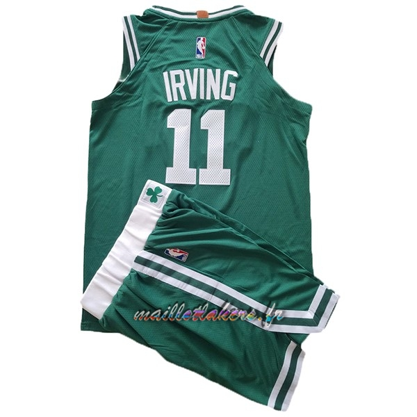 Maillot NBA Ensemble Complet Enfant Boston Celtics NO.11 Kyrie Irving Vert Pas Cher