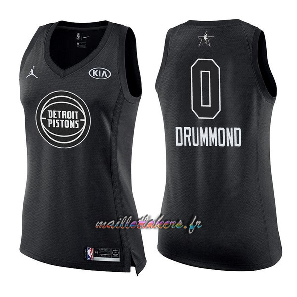 Maillot NBA Femme 2018 All Star NO.0 Andre Drummond Noir Pas Cher