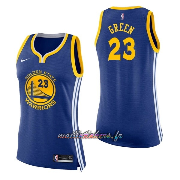 Maillot NBA Femme Golden State Warriors NO.23 Draymond Green Bleu Icon Pas Cher
