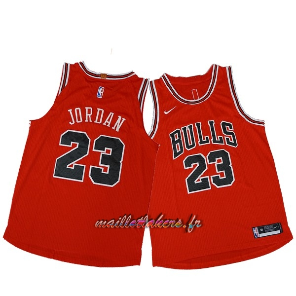 Maillot NBA Nike Chicago Bulls NO.23 Michael Jordan Rouge Icon Pas Cher