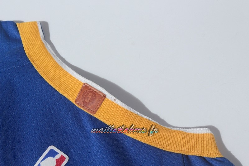 Maillot NBA Nike Golden State Warriors NO.30 Stephen Curry Bleu Pas Cher
