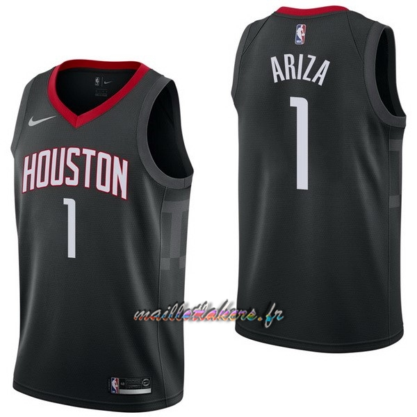 Maillot NBA Nike Houston Rockets NO.1 Trevor Ariza Noir Statement Pas Cher