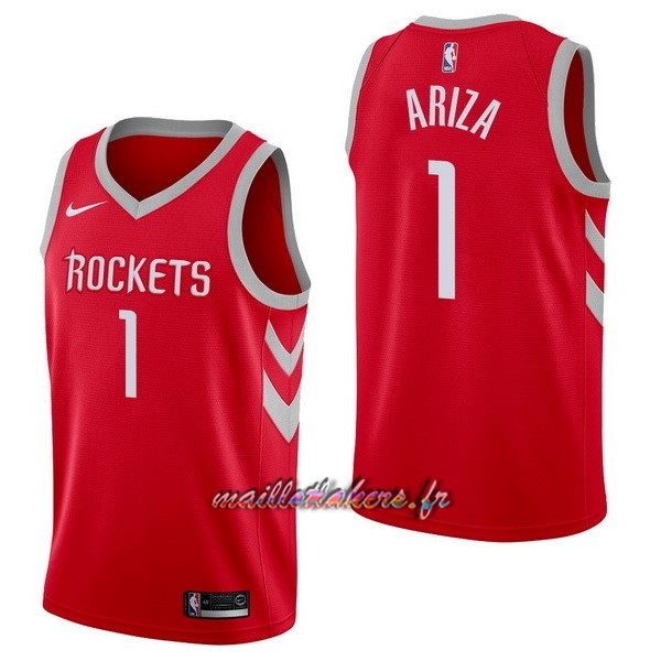 Maillot NBA Nike Houston Rockets NO.1 Trevor Ariza Rouge Icon Pas Cher