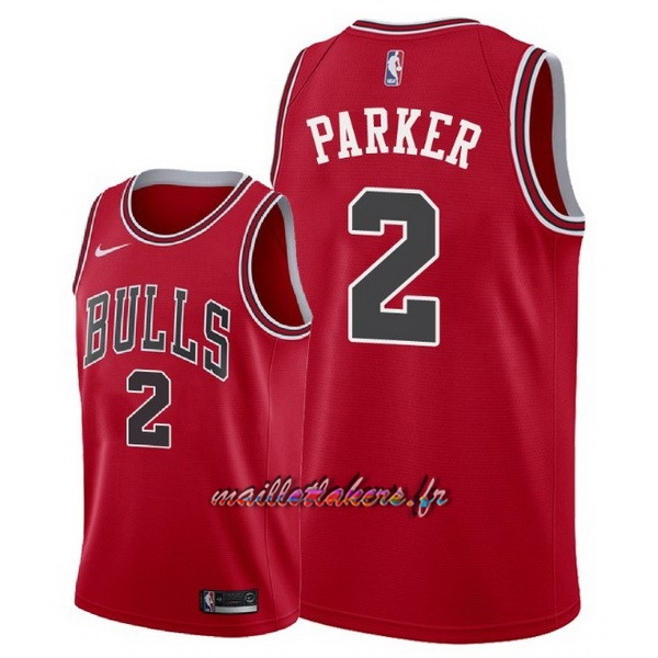 Maillot NBA Nike Chicago Bulls NO.2 Jabari Parker Rouge Icon 2018 Pas Cher