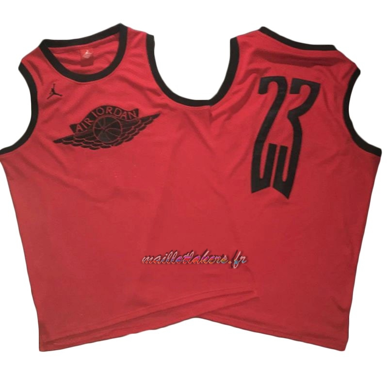 Maillot NBA Chicago Bulls NO.23 Michael Jordan Flying Wing Logo Rouge Pas Cher