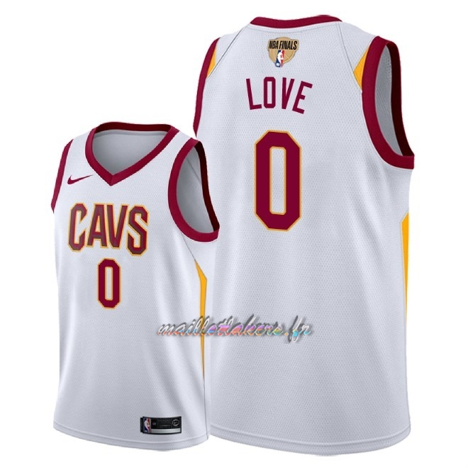 Maillot NBA Cleveland Cavaliers 2018 Final Champions NO.0 Kevin Love Blanc Association Patch Pas Cher
