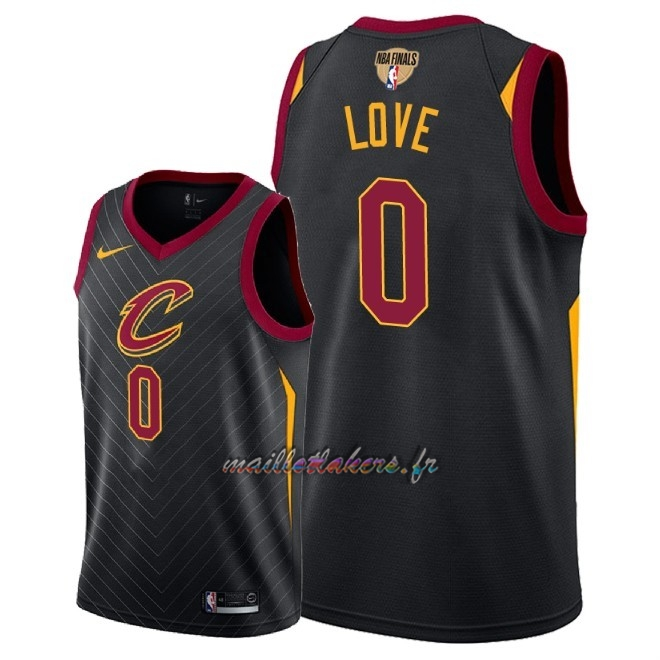 Maillot NBA Cleveland Cavaliers 2018 Final Champions NO.0 Kevin Love Noir Statement Patch Pas Cher