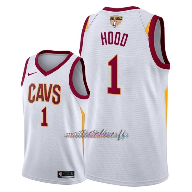 Maillot NBA Cleveland Cavaliers 2018 Final Champions NO.1 Rodney Hood Blanc Association Patch Pas Cher