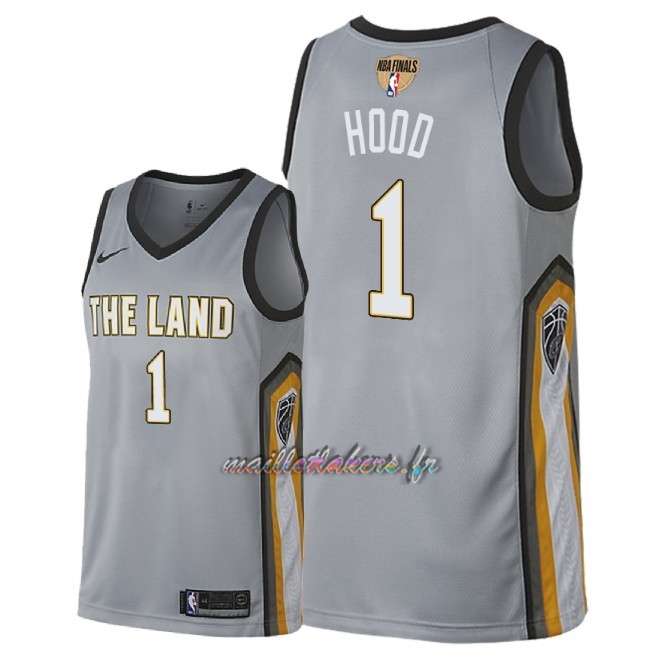 Maillot NBA Cleveland Cavaliers 2018 Final Champions NO.1 Rodney Hood Nike Gris Ville Patch Pas Cher