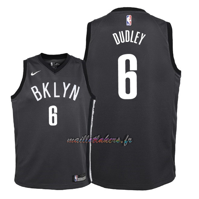 Maillot NBA Enfant Brooklyn Nets NO.6 Jared Dudley Noir Statement 2018 Pas Cher