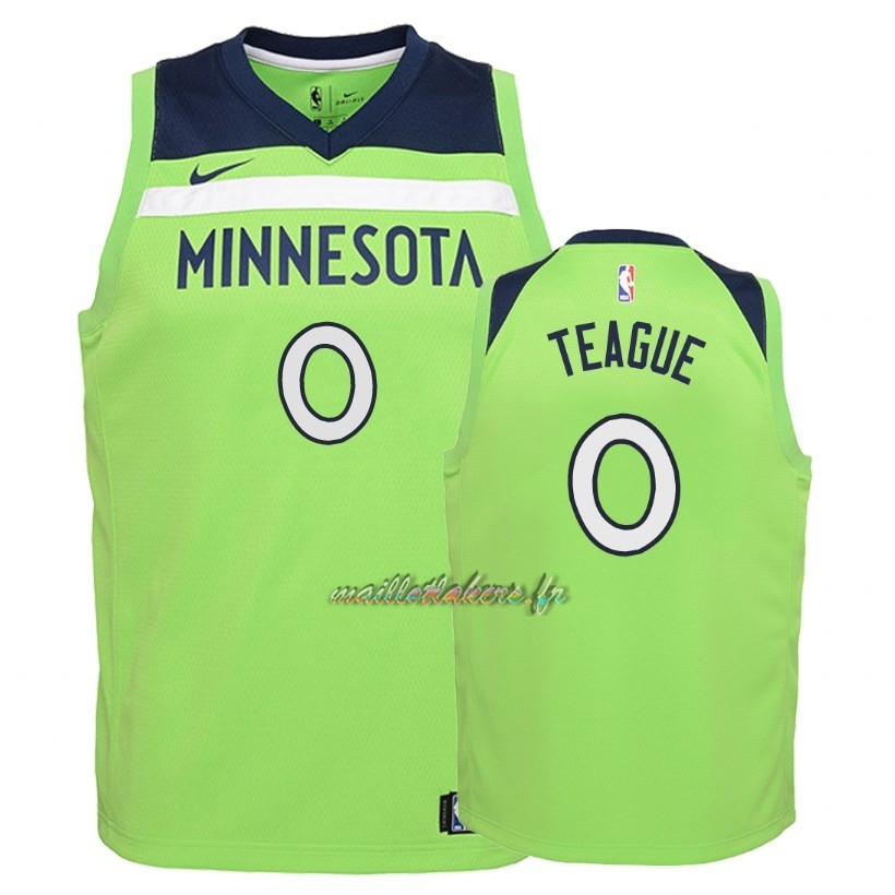 Maillot NBA Enfant Minnesota Timberwolves NO.0 Jeff Teague Vert Statement 2018 Pas Cher