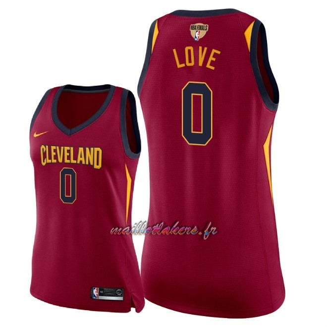 Maillot NBA Femme Cleveland Cavaliers 2018 Final Champions NO.0 Kevin Love Rouge Icon Patch Pas Cher