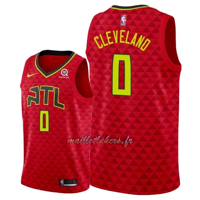 Maillot NBA Nike Atlanta Hawks NO.0 Antonius Cleveland Rouge Statement 2018 Pas Cher