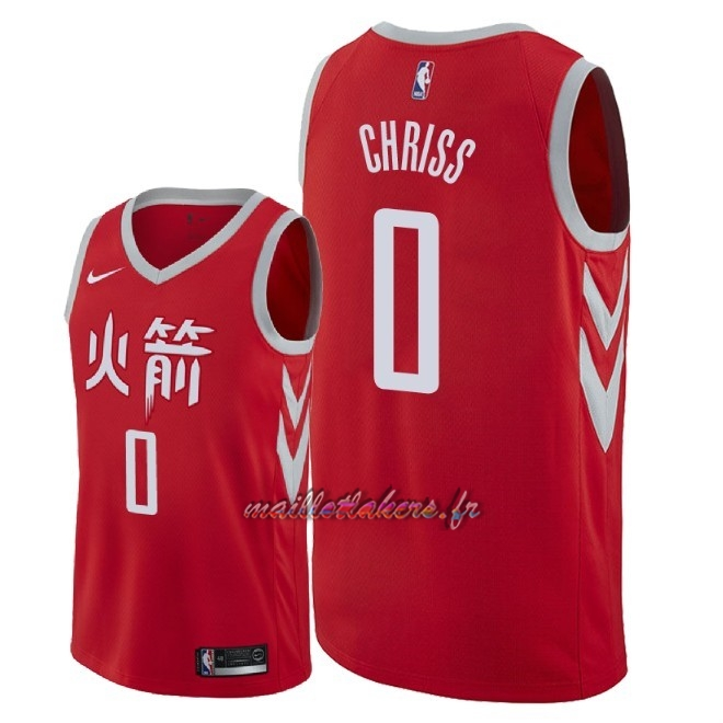 Maillot NBA Nike Houston Rockets NO.0 Marquese Chriss Nike Rouge Ville 2018 Pas Cher