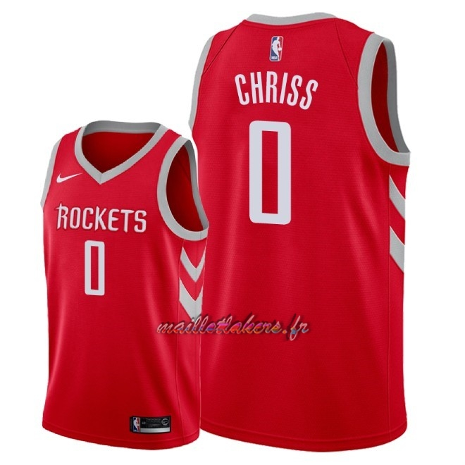 Maillot NBA Nike Houston Rockets NO.0 Marquese Chriss Rouge Icon 2018 Pas Cher