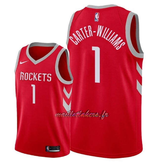 Maillot NBA Nike Houston Rockets NO.1 Michael Carter Williams Rouge Icon 2018 Pas Cher