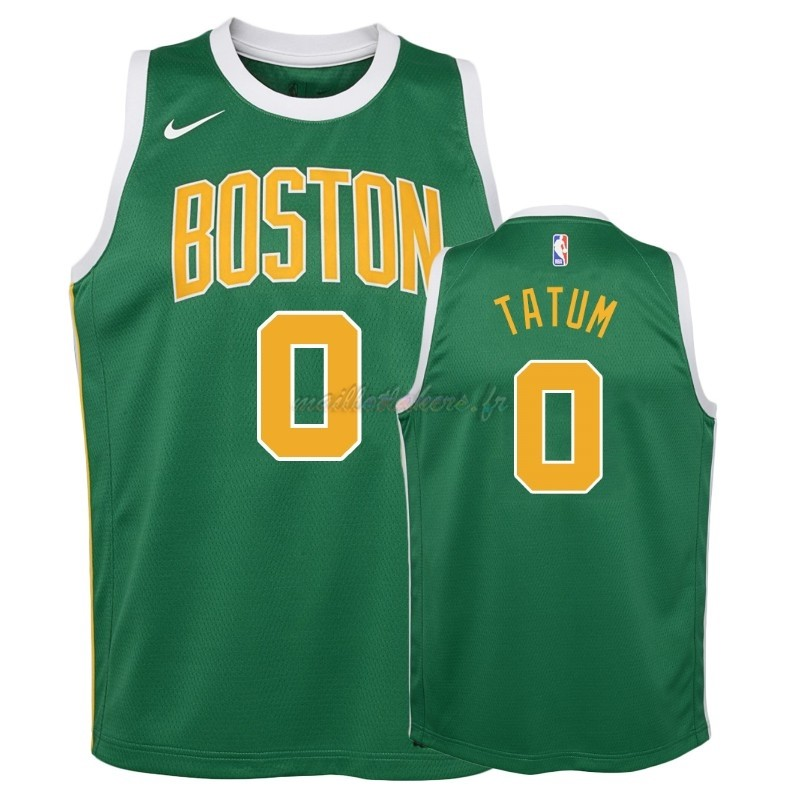 Maillot NBA Enfant Earned Edition Boston Celtics NO.0 Jayson Tatum Vert 2018-19 Pas Cher
