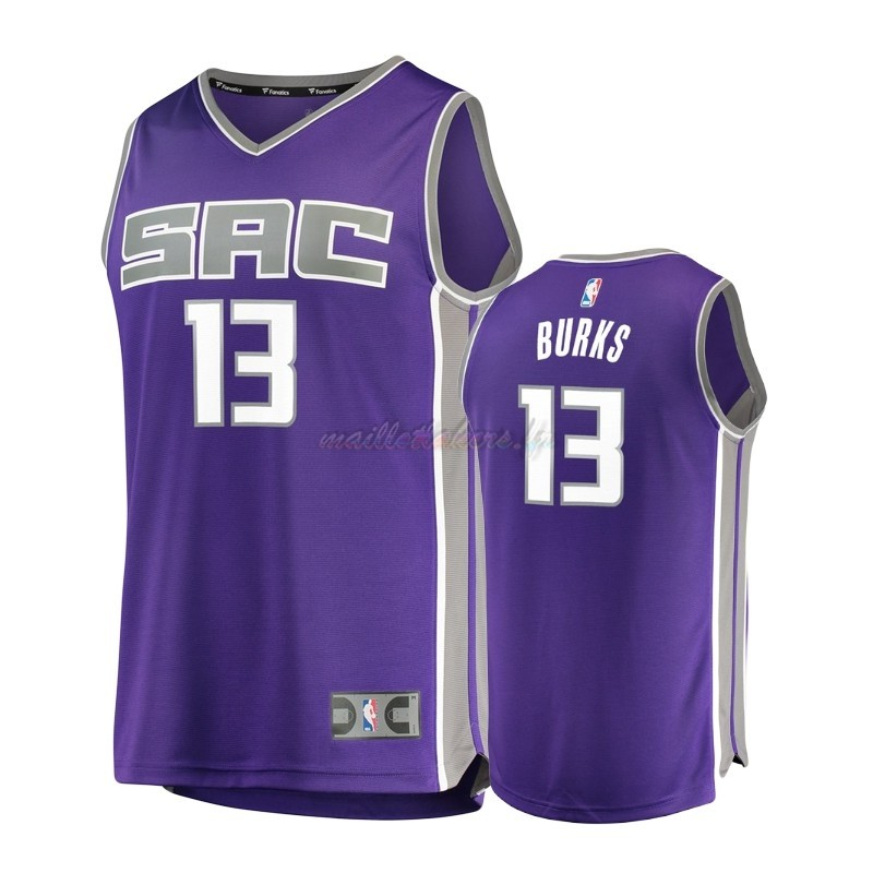 Maillot NBA Enfant Sacramento Kings NO.13 Alec Burks Pourpre Icon Pas Cher