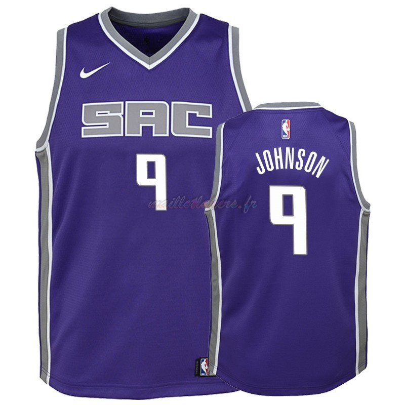 Maillot NBA Enfant Sacramento Kings NO.9 B.J. Johnson Pourpre Icon Pas Cher