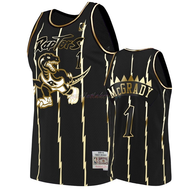 Maillot NBA Nike Toronto Raptors NO.1 Tracy McGrady Or Edition Pas Cher