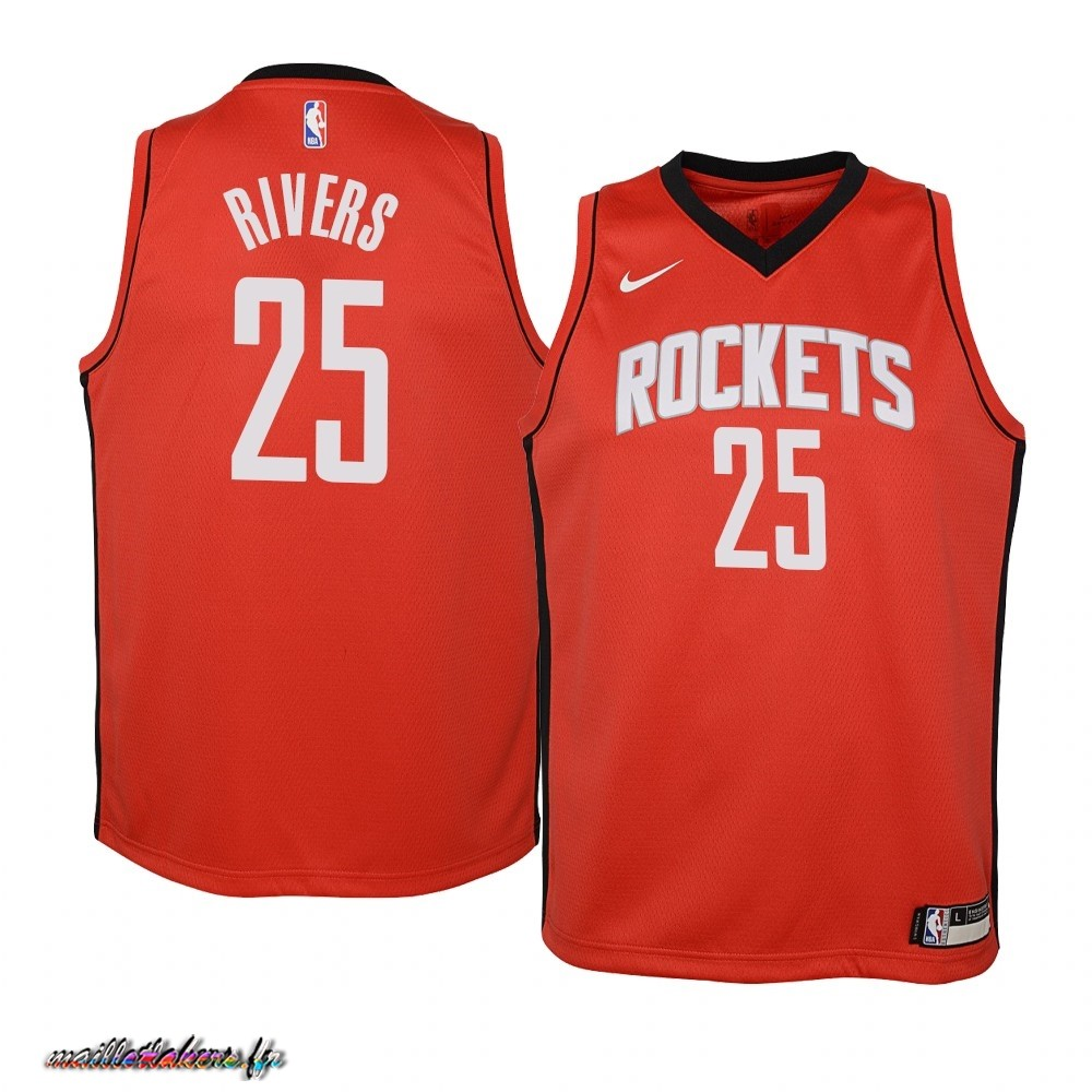 Maillot NBA Enfant Houston Rockets NO.25 Austin Rivers Rouge Icon 2019-20 Pas Cher