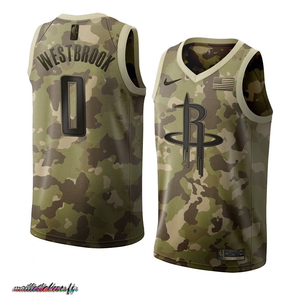 Maillot NBA Nike Houston Rockets NO.0 Russell Westbrook Camouflage 2019 Pas Cher