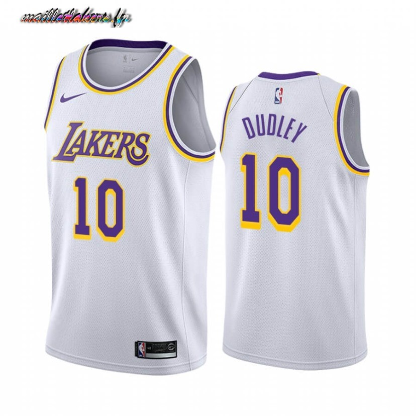 Maillot NBA Nike Los Angeles Lakers NO.10 Jared Dudley Blanc Association 2019-20 Pas Cher