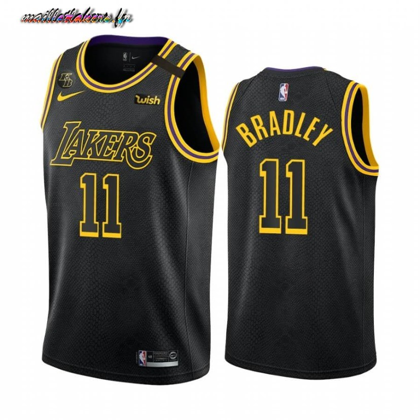 Maillot NBA Nike Los Angeles Lakers NO.11 Avery Bradley Noir Mamba 2019-20 Pas Cher