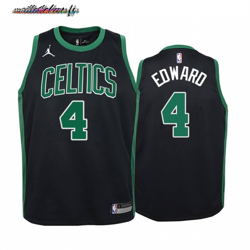 Maillot NBA Enfant Boston Celtics NO.4 Carsen Edwards Noir Statement 2020-21 Pas Cher