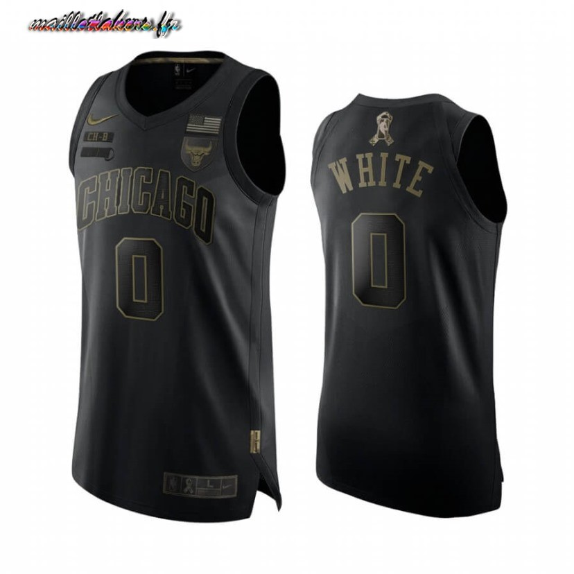 Maillot NBA Nike Chicago Bulls NO.0 Coby White Noir 2020-21 Pas Cher