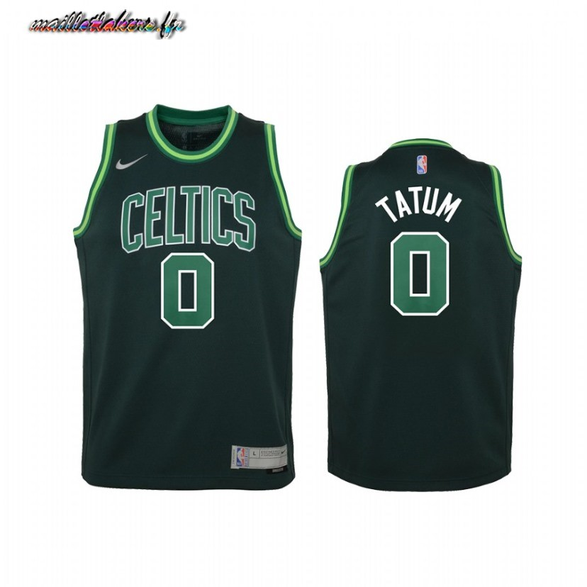 Maillot NBA Enfant Earned Edition Boston Celtics NO.0 Jayson Tatum Vert 2021 Pas Cher