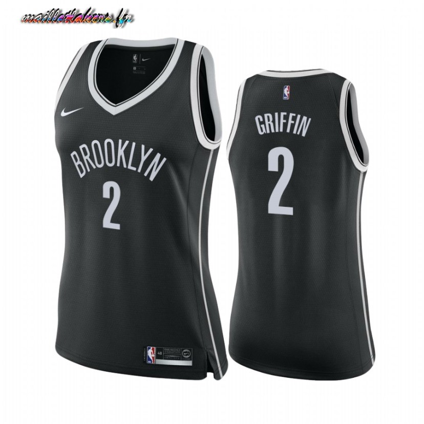 Maillot NBA Femme Brooklyn Nets NO.2 Blake Griffin Noir Icon 2020-21 Pas Cher