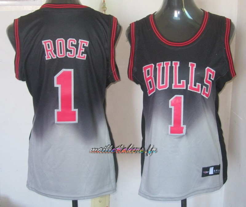 Maillot NBA Femme Retentisse Fashion NO.1 Derrick Rose Pas Cher