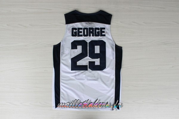 Maillot NBA 2012 USA NO.29 Paul George Blanc Pas Cher