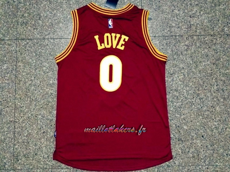 Maillot NBA Cleveland Cavaliers NO.0 Kevin Love 2015-2016 Rouge Pas Cher