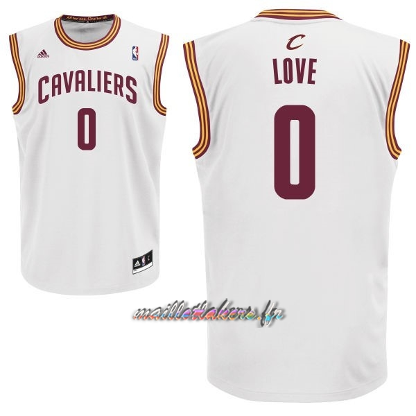 Maillot NBA Cleveland Cavaliers NO.0 Kevin Love Blanc Pas Cher