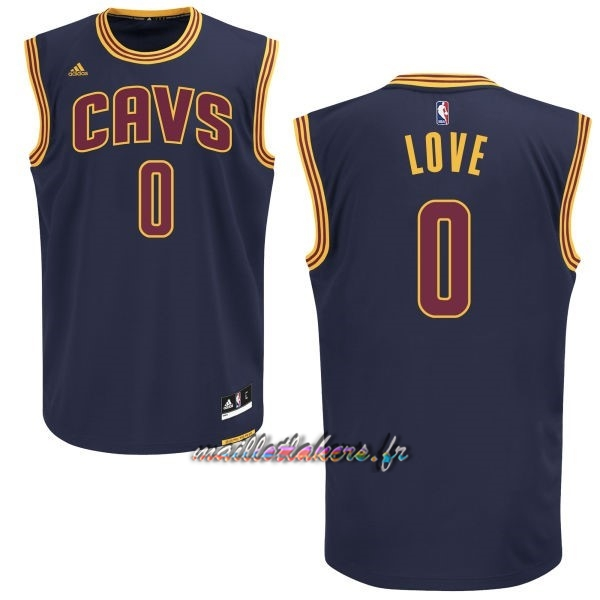 Maillot NBA Cleveland Cavaliers NO.0 Kevin Love Bleu Pas Cher