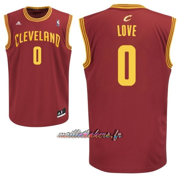 Maillot NBA Cleveland Cavaliers NO.0 Kevin Love Rouge Pas Cher