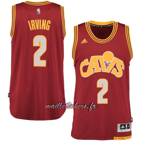 Maillot NBA Cleveland Cavaliers NO.2 Kyrie Irving 2015-2016 Rouge Pas Cher