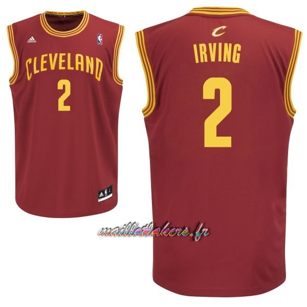 Maillot NBA Cleveland Cavaliers NO.2 Kyrie Irving Rouge Pas Cher