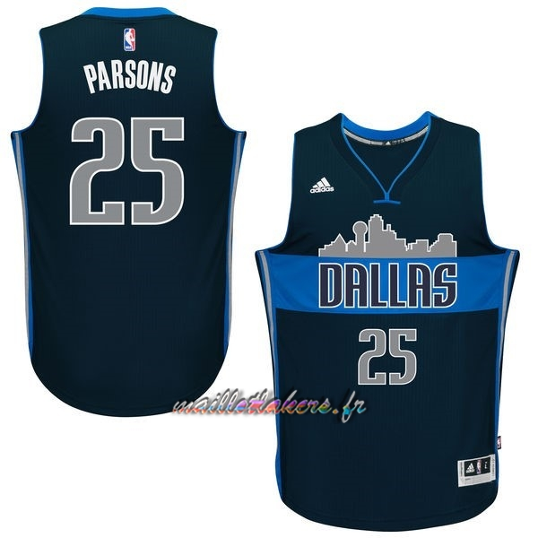 Maillot NBA Dallas Mavericks NO.25 Chandler Parsons Bleu Profond Pas Cher