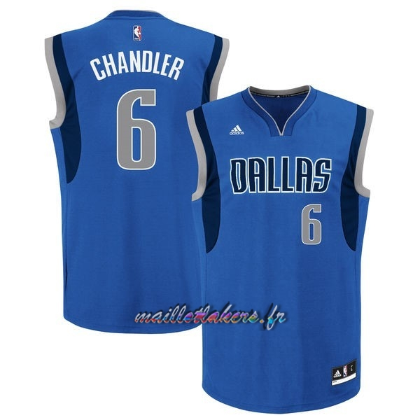Maillot NBA Dallas Mavericks NO.6 Tyson Chandler Bleu Pas Cher