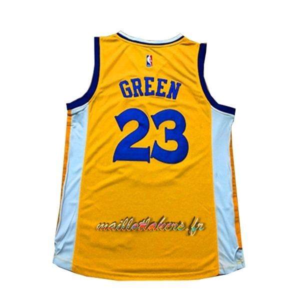 Maillot NBA Femme Golden State Warriors NO.23 Draymond Green Jaune Pas Cher