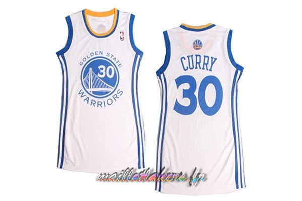 Maillot NBA Femme Golden State Warriors NO.30 Stephen Curry Blanc Pas Cher
