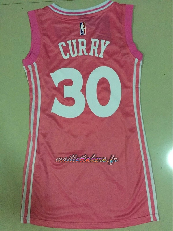 Maillot NBA Femme Golden State Warriors NO.30 Stephen Curry Rose Pas Cher