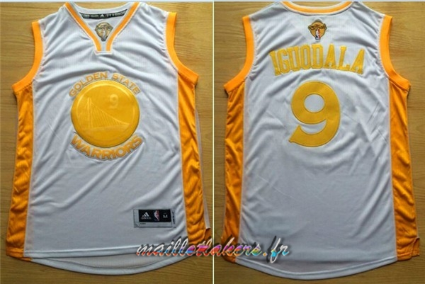 Maillot NBA Golden State Warriors NO.9 Andre Iguodala Or Pas Cher