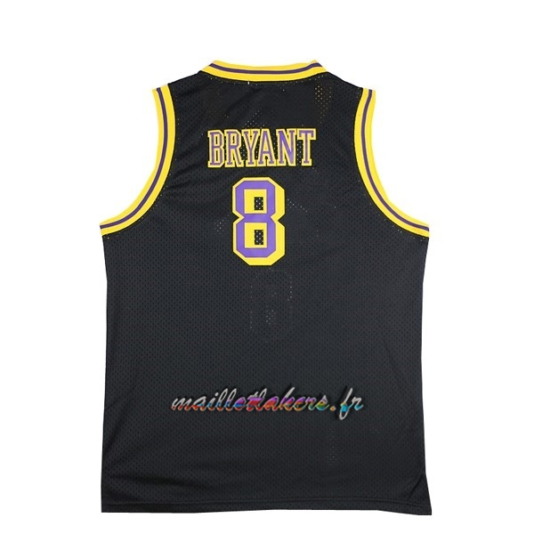 Maillot NBA Los Angeles Lakers NO.8 Kobe Bryant Noir Pas Cher